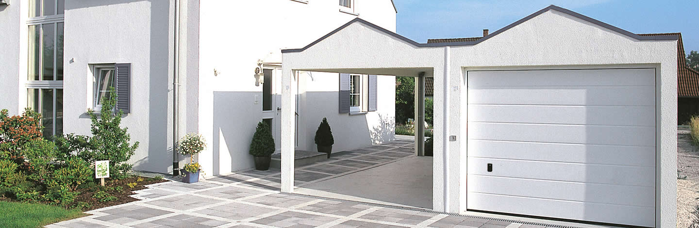 Beton-Carport Air mit Fertiggarage